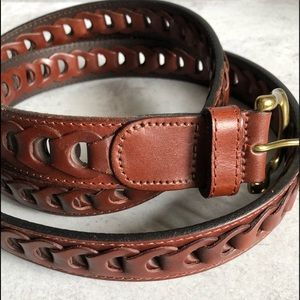 Brown Leather Belt Size 42